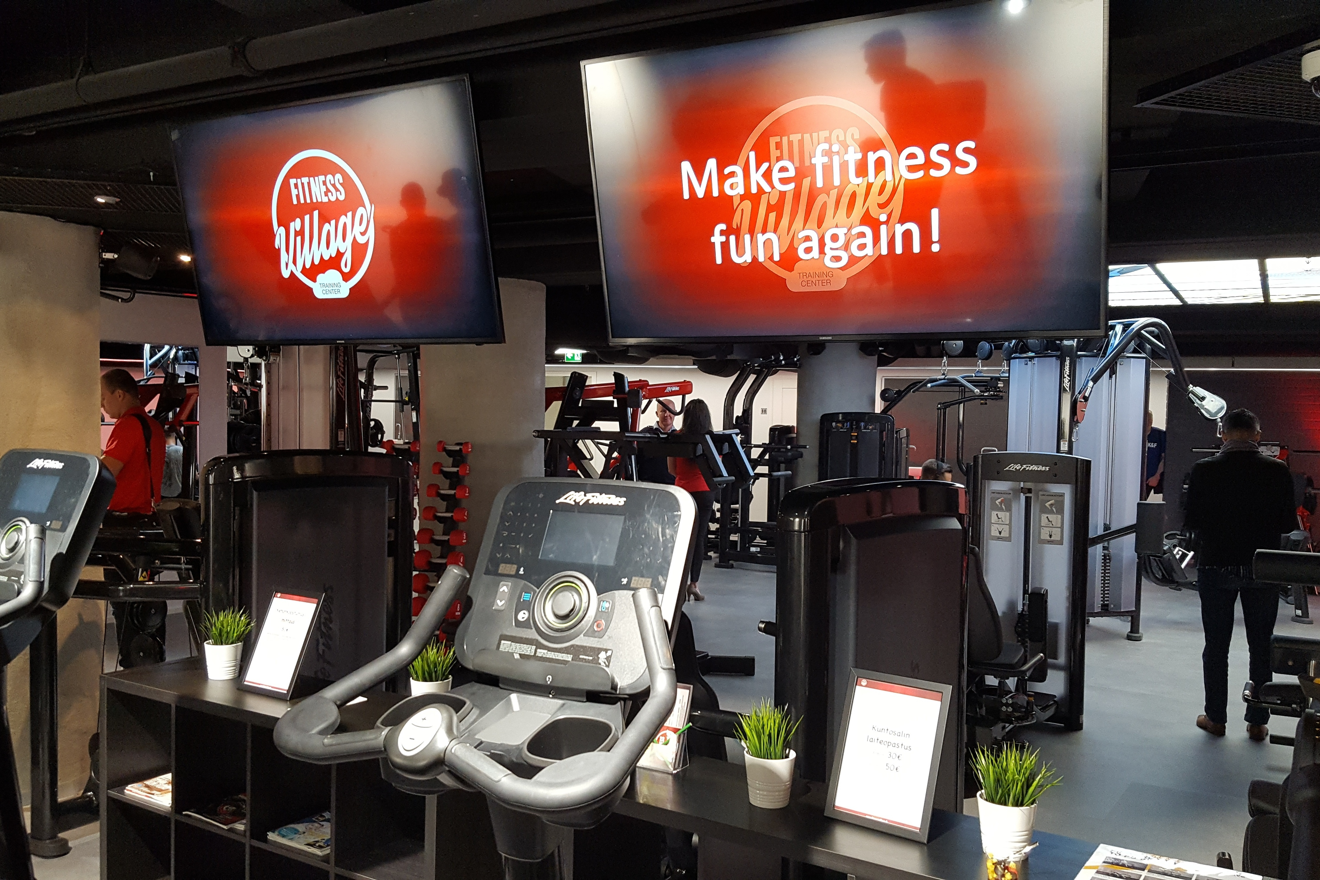 The brand new Fitness Village Training Center utilizes gamified elements in its training equipment